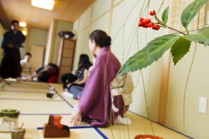 茶道体験(Tea ceremony experience 29th Jan. 2014)