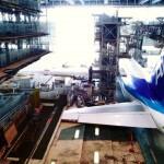 全日空機体整備工場見学(ANA maintenance facility tour.)